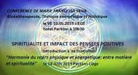 CONFERENCE SPIRITUALITE ET PENSEE POSITIVE